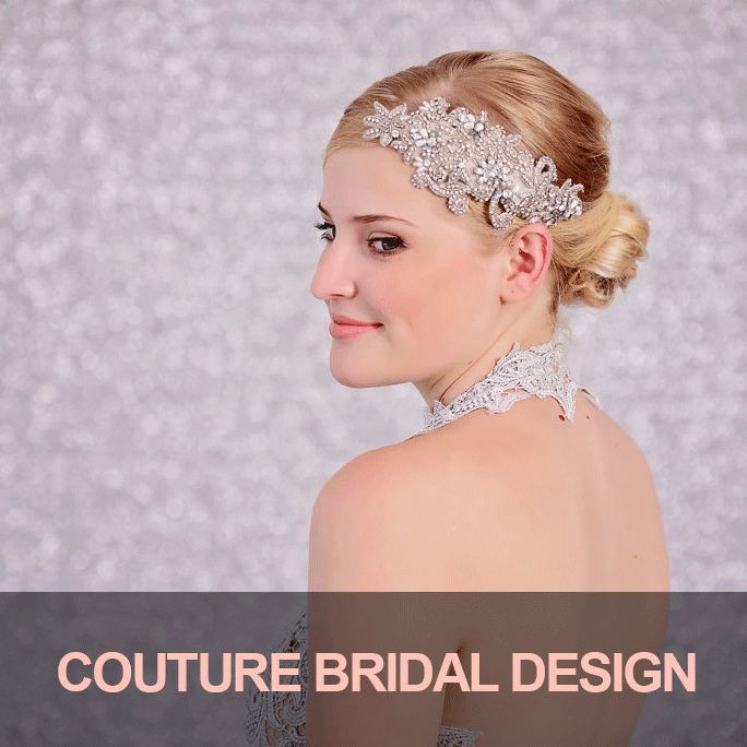 wedding bridal rhinestone and crystal hairpiece, home