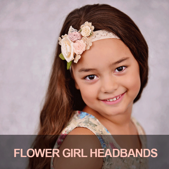 flower girl headbands for weddings