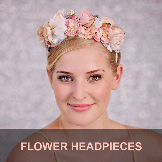 flower headbands for weddings , bridesmaids , bridal