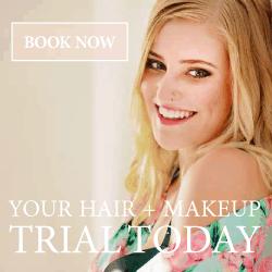 wedding hair and makeup trials brisbane