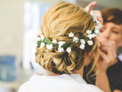 Soft Textured Bridal Hair Style