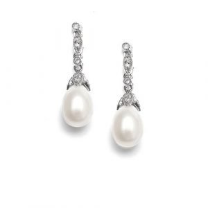 Freshwater Pearl Vintage Bridal Earrings