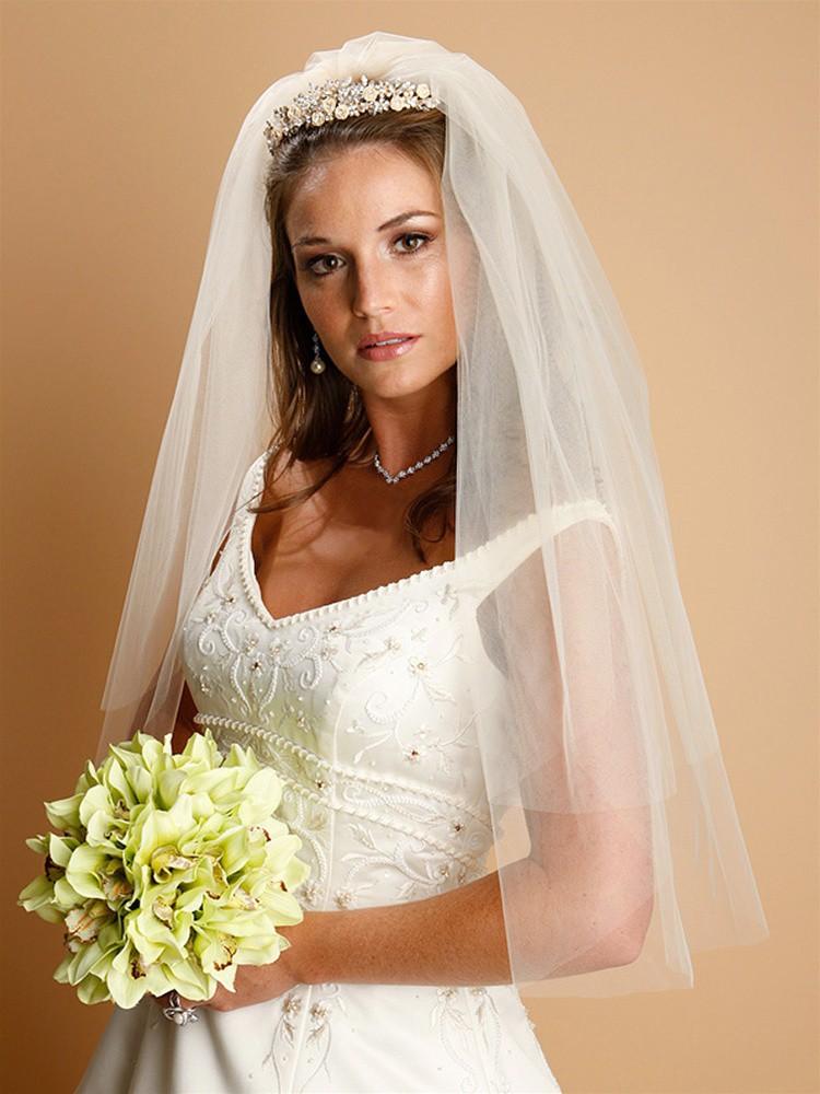 Bridal Veil 2 Tier, white
