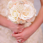 Wedding Bouquet in Pink and Ivory