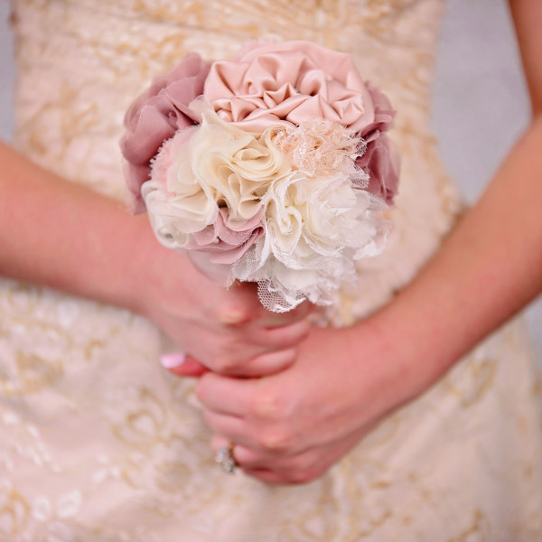 Wedding Bouquet- Pink ,Ivory,Brown
