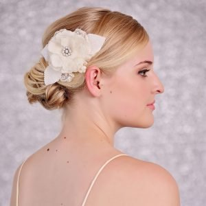 Wedding Ivory Flower Hair Comb