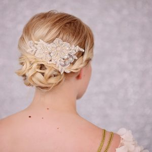 Bridal Ivory Lace Hair comb