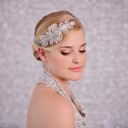 bridal silver rhinestone headpiece