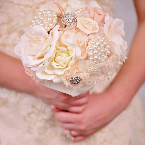 Wedding Fabric Flower Bouquet