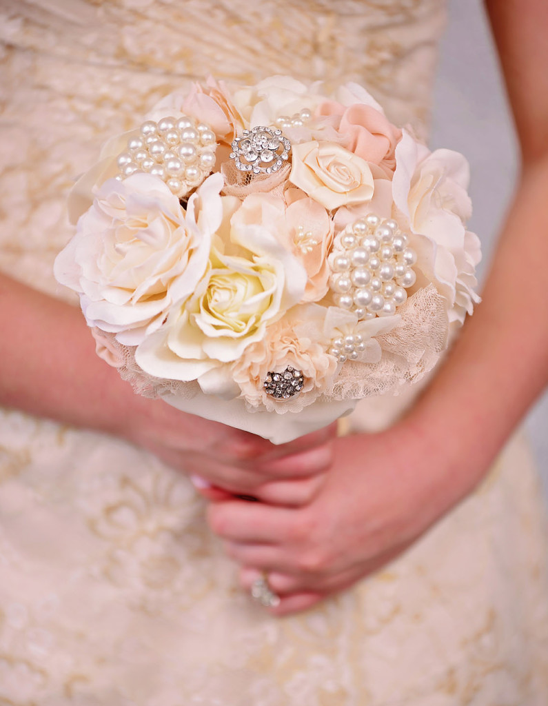 Wedding Fabric Flower Bouquet