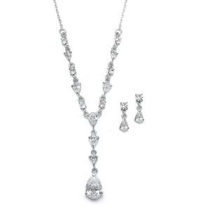 Bridal CZ Necklace and Earring Set