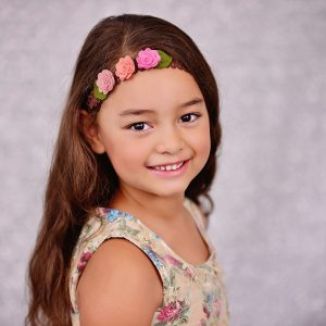 Girls Headband - 3 Flowers