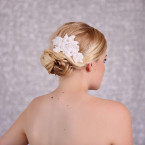 Bridal Lace Beaded Hair Comb