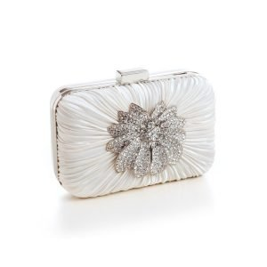 Ivory Satin Bridal Clutch