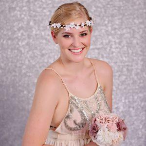 White Flower Hair Crown