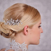 Crystal Hair Comb- Silver