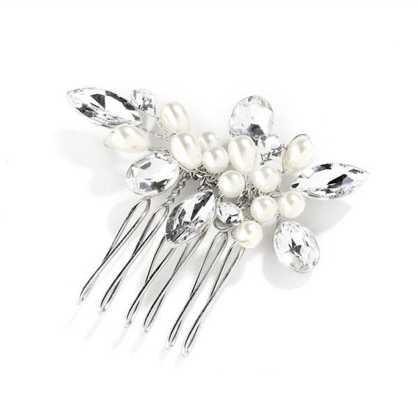 Crystal & Pearl Wedding Comb