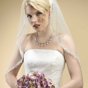 Bridal Veil with Lace Trim