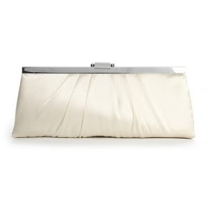 Satin Bridal Evening Bag - Ivory