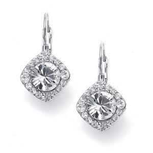 Bridal Solitare Drop Earrings