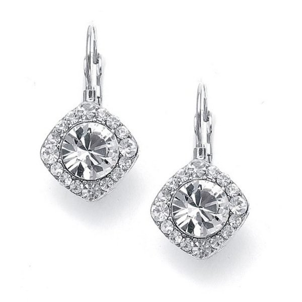 Bridal Solitare Drop Earrings