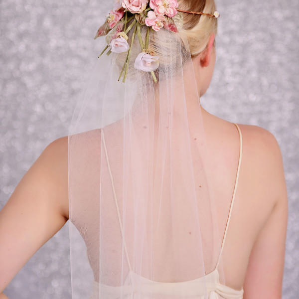 Bridal Veil with Flower Crown