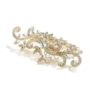 Crystal Hair Comb - Gold