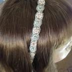 Beaded Bridal Ribbone Headband