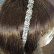 Beaded Bridal Ribbone Headband