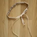 Beaded Bridal Ribbon Headand