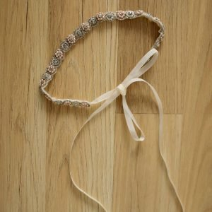 Beaded Bridal Ribbon Headand