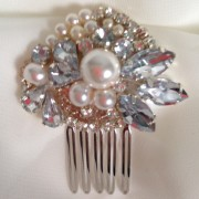 Bridal Hair Comb with Pearls, Crystals and Beads