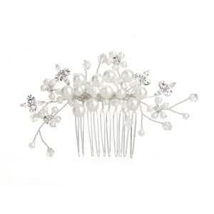 Crystal and Pearl Bridal Hair comb