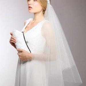 Brisal Veil with White Lace Headband