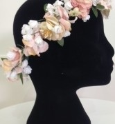 Flower Crown in Pink and Ivory