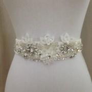 Ivory Wedding Dress Sash