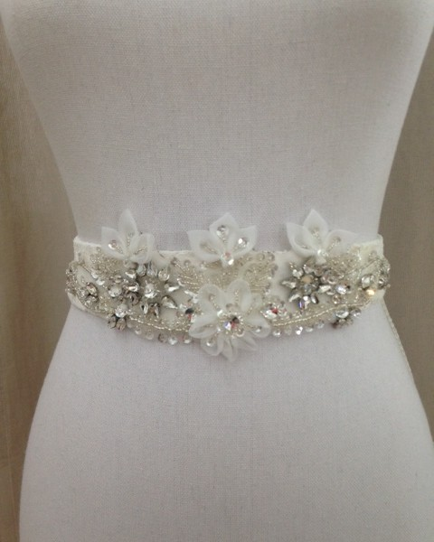 Ivory wedding dress sash for Ivory wedding dress sash