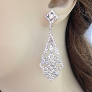 Bridal CZ Drop Earring