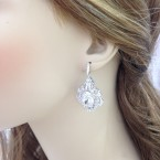 Sterling Silver Wedding Drop Earrings