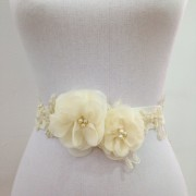 Bridal Flower Sash- Cream