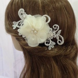 Bridal Ivory Flower Hair Comb