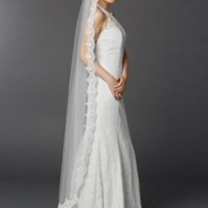 Chapel Floor length 1 layer Veil Manilla Veil White