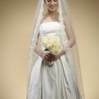 floor lenght veil white