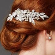 Silver & Pearl Bridal Hair Comb