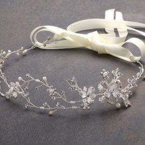 Bridal Headband Pearls & Crystals