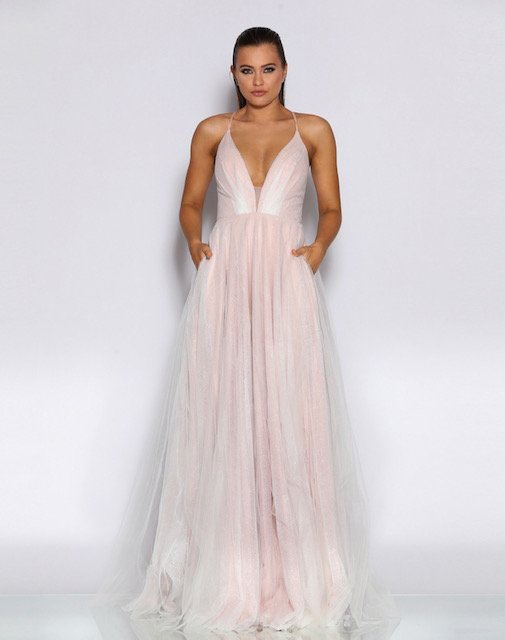 JX2022 Jadore Pink Formal Dress