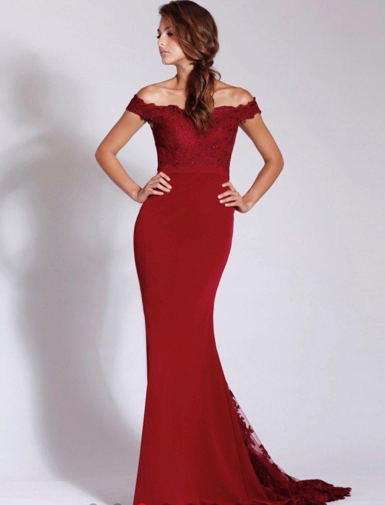 J8033 Burgendy Jadore Dress