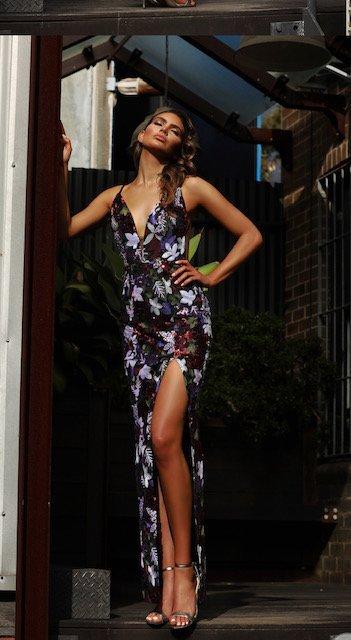 JX3051 Grape Jadore Dress