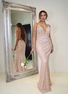 JX111 Rose Gold Jadore Formal Dress