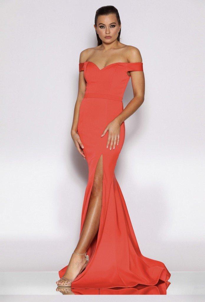JX2086 Jadore Dress Blood Oranfe